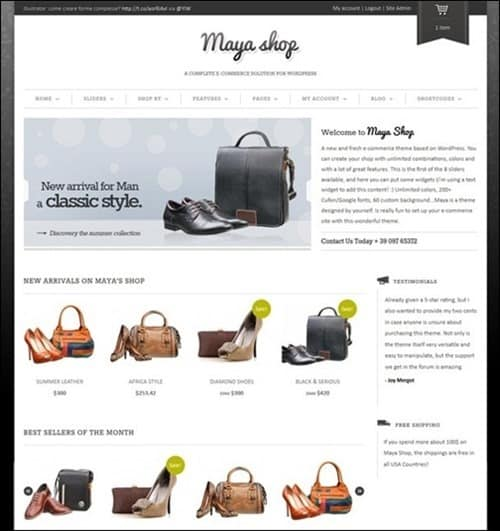 maya-shop WordPress ecommerce themes