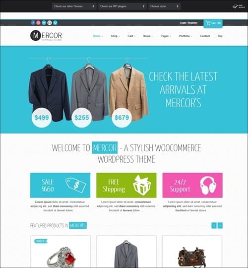 mercor WordPress ecommerce themes