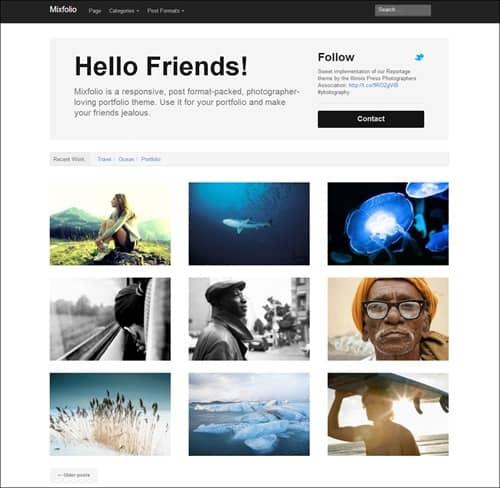 mixfolio simple wordpress themes
