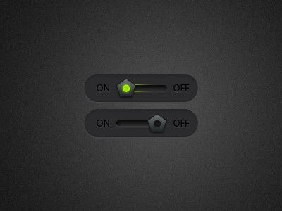 On off toggle button