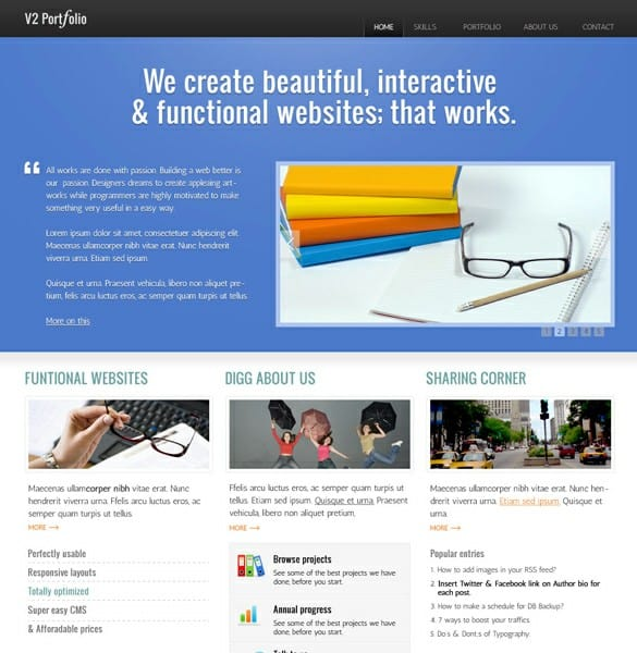 4 Page Portfolio PSD Templates Website