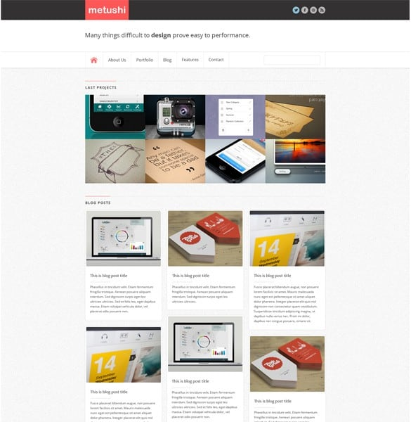 Minimal Business WordPress Theme Website PSD