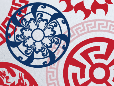 Round vector decorations