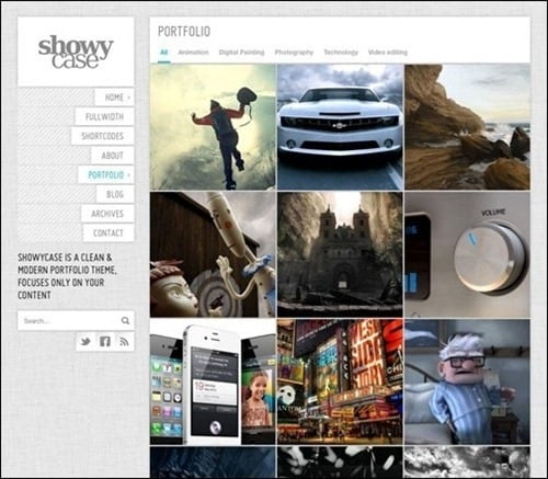 showycase WordPress Photography Themes
