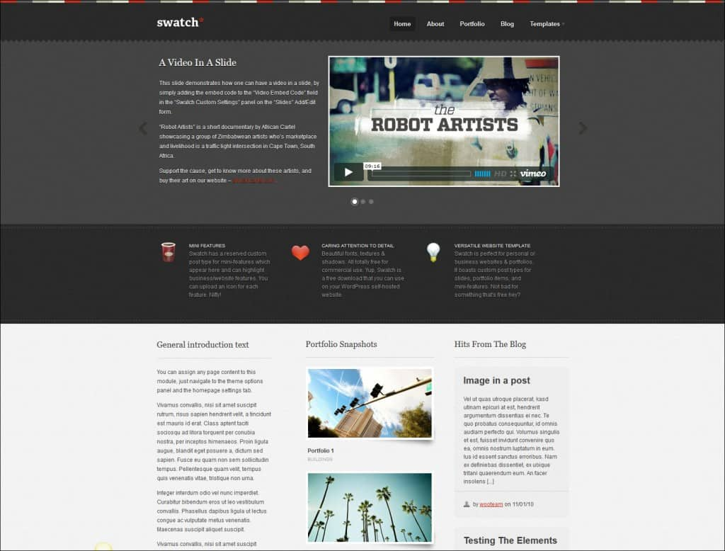 swatch wordpress theme