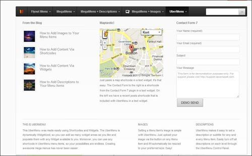 uber-menu jQuery menu plugins