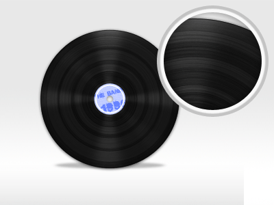 Vinyl disc psd file