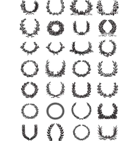 28 Detailed Wreath Decorations Set
