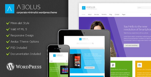 Aeolus - Corporate Minimalist WordPress Theme