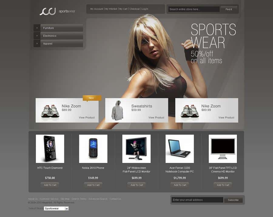 Sportswear-Magento-Theme