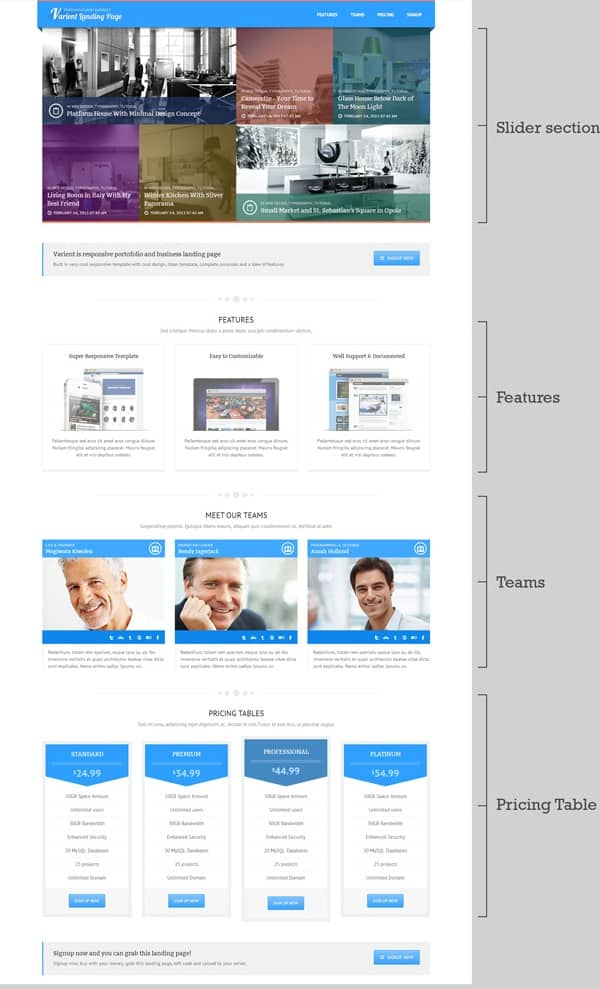 Ata is an amazing landing page