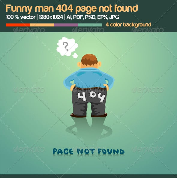 Funny Man 404 Page Not Found