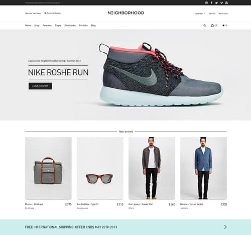 Neighborhood Responsive Shop Theme