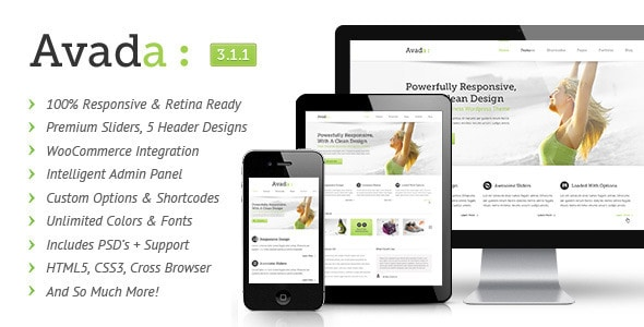 Avada responsive word press theme