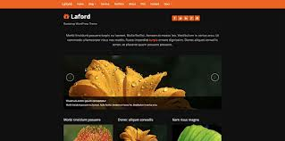 Laford bootstrap word press theme