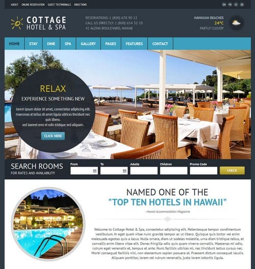Cottage-Hotel-Template