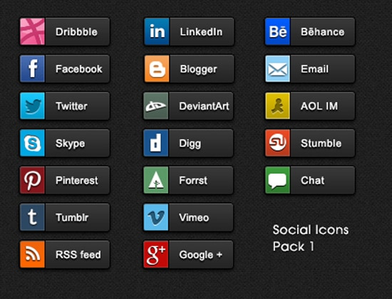 Social Share buttons