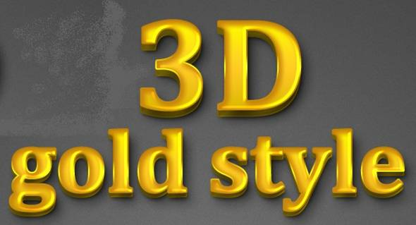 3D Gold Style for Photoshop