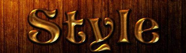 Gold Metal Text Effect