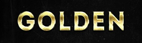 Photoshop Gold Text Styles